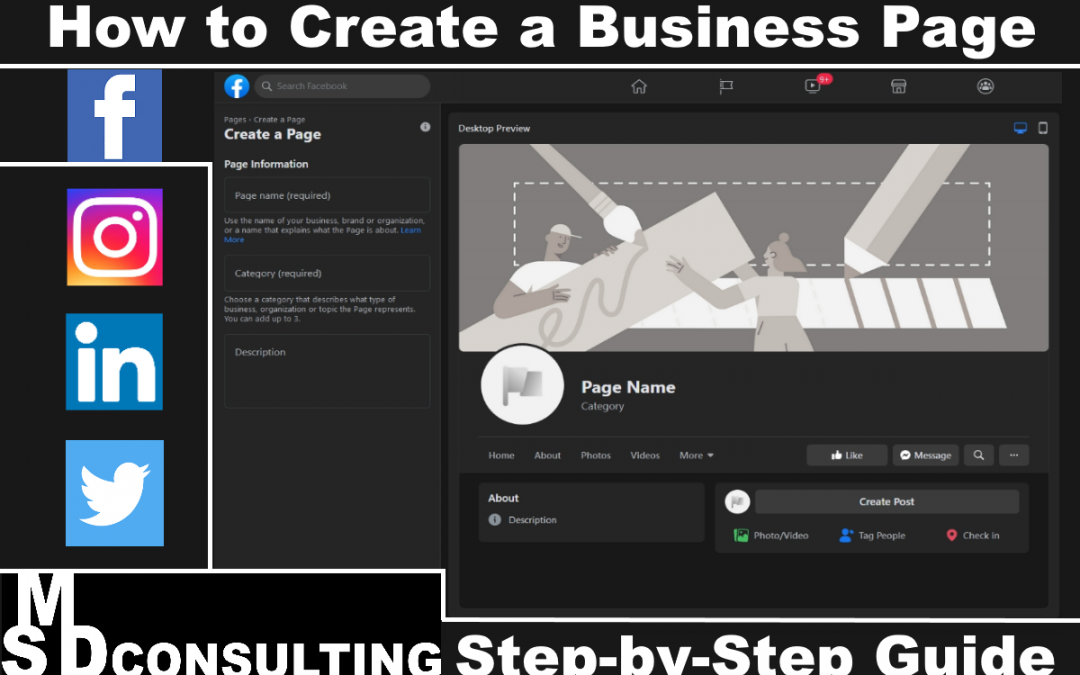 How to Create a Business Page on Social Media (Facebook, Instagram, Twitter, LinkedIn)